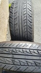 "Pair of 185/60/15"" Tires,Lots of tread"