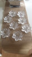 Set of 8 Crystal Glass Lotus Tealight Holders - Only $30 for Set