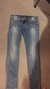 Silver Aiko Skinny jeans size 29 inseam 31