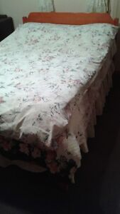 Double bed with mattress, headboard & footboard