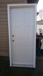 """4 1/2"""" Exterior door and frame. 2"""" brickmold attached"""