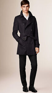 Burberry London Iconic Trench Coat size 50 (Navy / Retail $2600)