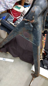 Solid metal truck or utility trailer tow bar