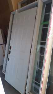 "White Vinyl 36"" Door with Frame"