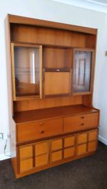 Large Oak Display Cabinet Unit