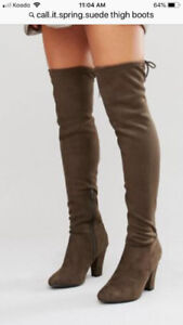 NEW CALL IT SPRING  THIGH HIGH BOOTS  SIZE 8.5