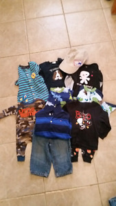 Lot of boys clothing and sleepers size 9-12 months