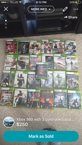 Xbox 360/2 controllers/26 games