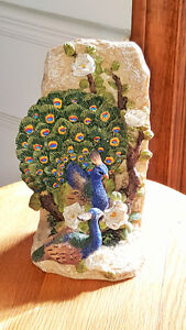 Home - indoor - Peacock / peahen bookends - -polyresin London Ontario image 1
