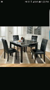 Marble look top dining set brand new