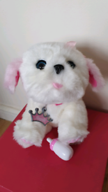 Snuggles Tiara My Dream Puppy Little Live Pet Electronic girl white do