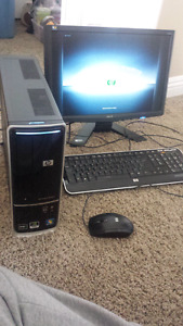 HP computer with Acer monitor