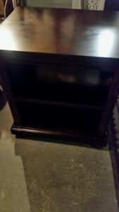 High Quality Excutive dark wood Desk and shelving cabinet