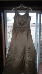 Antique Gold Designer Wedding Dress