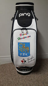 Brooke Henderson Autographed Ping Tour Staff Golf Bag Brand New