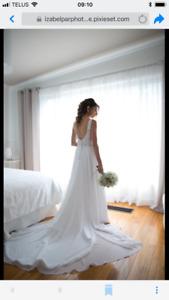 Robe de mariée grandeur 8 (5pied7 120lbs)