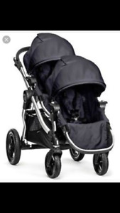 Black and Chrome Baby City Jogger Stroller for sale *LIKE NEW*