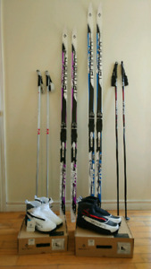 New! SKIS AND BOOTS - TWO PAIRS - USED ONCE - BOUGHT LAST WINTER