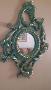 Hand painted ornate mirror