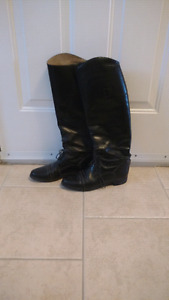 Ladies Black  Riding Boots Size 9.5R