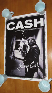 "Johnny Cash ""Solitary Man"" large promo poster - mint / rare - $5"