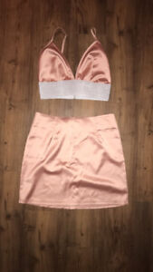 Two piece top/skirt combination