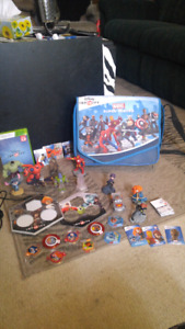 Disney infinity for xbox 360 with LOTS of extras