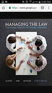 Managing the law -4th ed