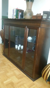 Moving sale. Nice wood table shelf or tv stand