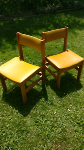 Two canadian made vintage chairs