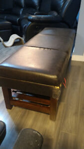 *PPU* Brown Leatherette Bench