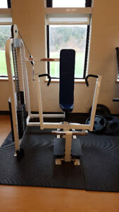 Commercial Seated Cable Chest Press