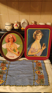 Coca-Cola Trays 1974 and 1977 30.00 each