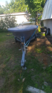 Fishing boat with 20hp Mercury