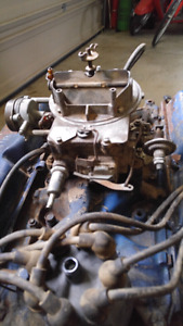 two barrel carb and intake manifold