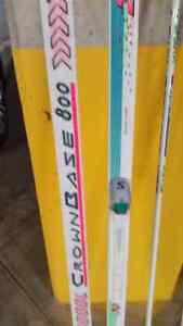 X-C skis and poles