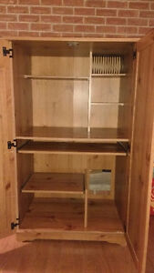 Solid wood entertainment/shelving unit