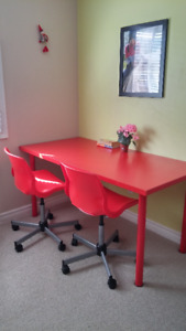 IKEA Desk and Chairs