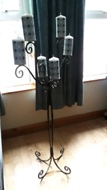 Floor standing metal candleabra, collection only