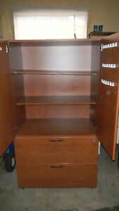 Book Case with 2 Drawer Lateral FIles