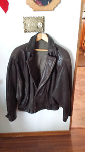 Very soft leather bomber