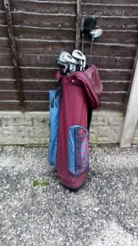 Golf club and bag + bits