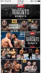 4 UFC tickets December 10th