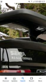 ford sierra rs500 spoiler cosworth 3dr xr4x4 ghia sponge new genuine