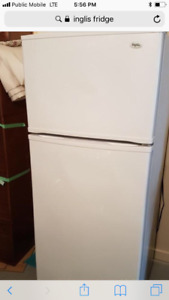 White fridge , works perfect . Used it as a beer fridge.