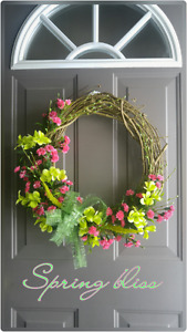 """NEW """"SPRING BLISS"""" GRAPEVINE WREATH"""