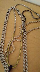 Chaine pendantif Iced out (diamond) en cuivre de bijoutier West Island Greater Montréal image 6