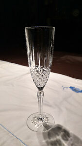 Champagne Glasses, Set of 8 Crystal d'Arques 'Constance' Champag