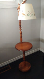 Solid Wood ( oak I believe) Table Lamp