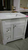 "30"" White Vanity Set with Quartz Counter Top!"